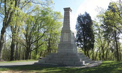 Monument commemorating the Battle of Kings Mountain
